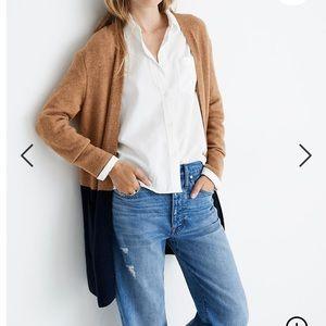 Madewell color block cardigan